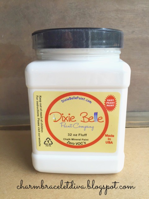 Jar of Dixie Belle Chalk Mineral Paint in Fluff