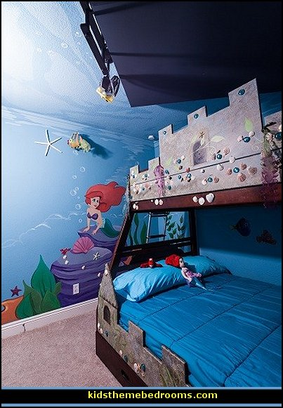Decorating theme bedrooms maries manor little mermaid for Under the sea bedroom designs
