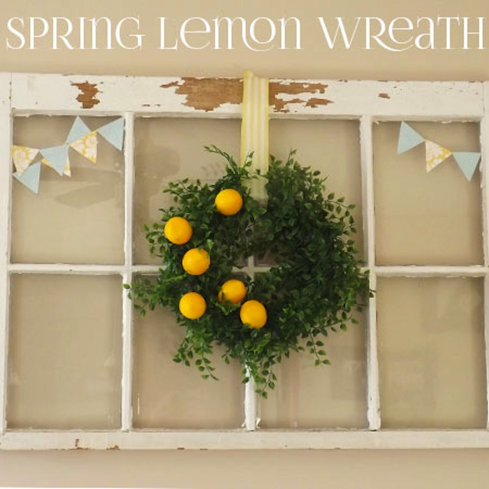 Lemon Wreath #spring