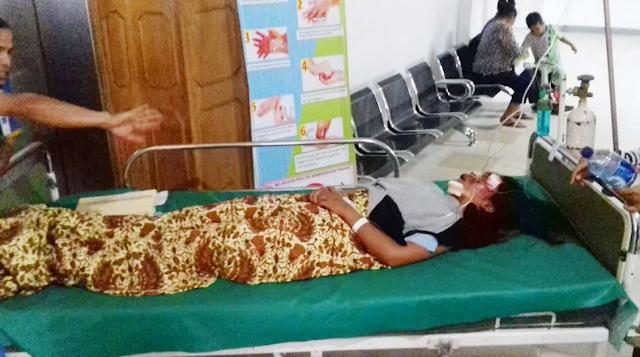 korban tiba di Rumah Sakit Horas Insani (RSHI) dan langsung ditangani medis
