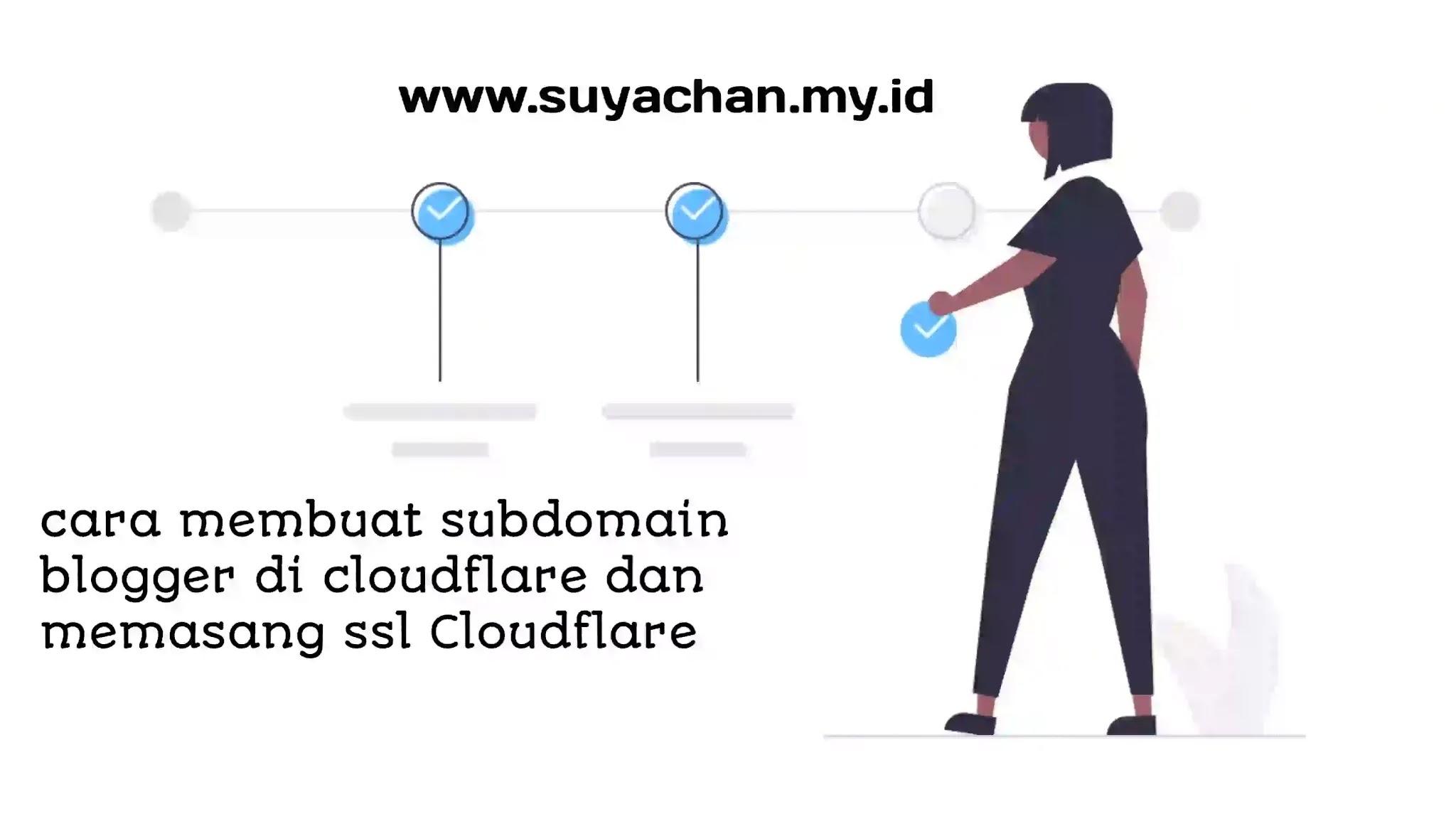 cara membuat subdomain blogger di cloudflare dan memasang ssl untuk subdomain Cloudflare