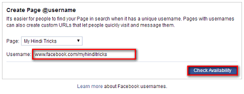 how to change url of a like page on facebook