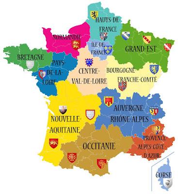 Nouvelles régions françaisescarte de France-FLE-comenfrance-ecole-cours-français-bordeaux-french-school