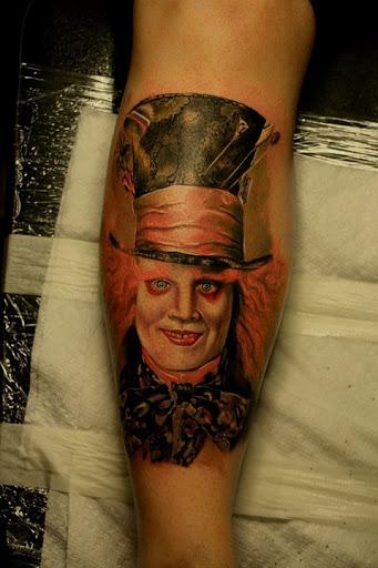 Johnny Depp como o Chapeleiro Louco