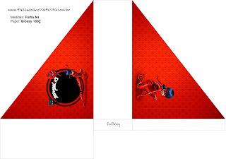 Para servilleteros de Prodigiosa Ladybug para imprimir gratis.