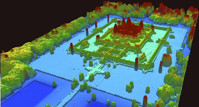 Angkor metropolis in cambodia jungle LIDAR