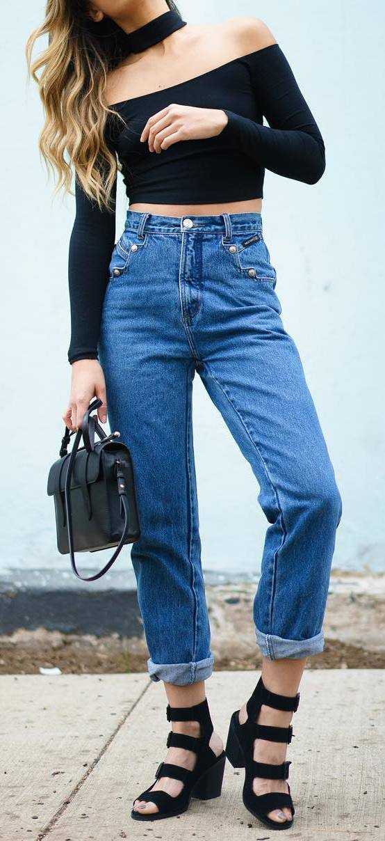street style obsession: top + bag + jeans