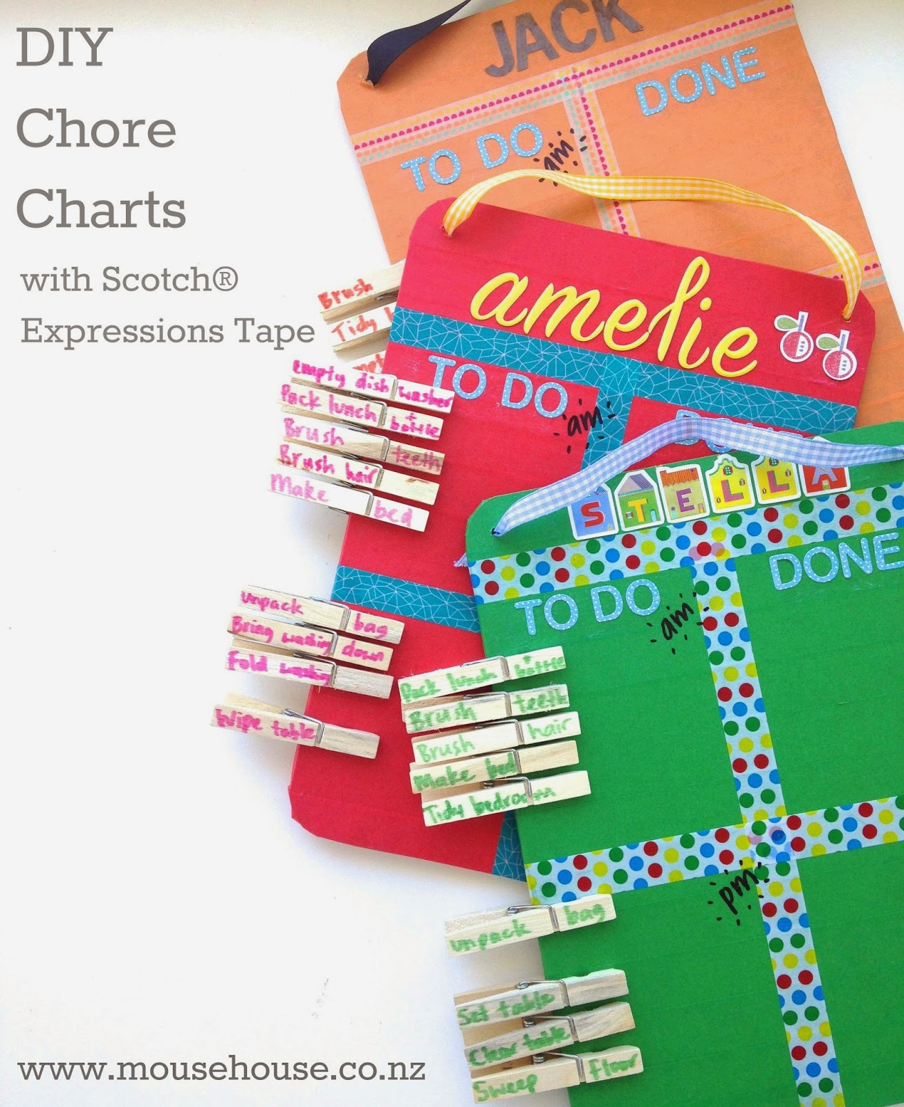 Mousehouse: DIY Chore Charts With Scotch® Expressions Tape
