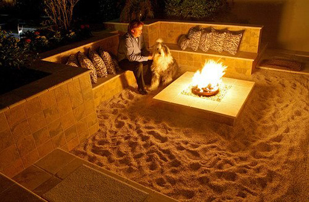 Beach-Themed Fire Pit