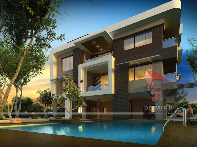 2 story house elevation modern house bungalow exterior rendering