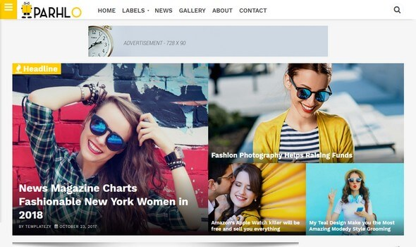 Parhlo Magazine Blogger Template