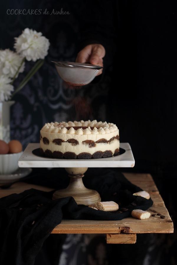 Tiramisú. Receta tradicional sin horno. Cookcakes de Ainhoa