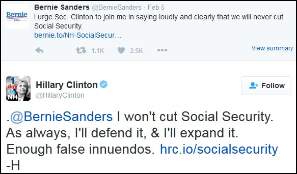 Clinton-vs-Sanders-Tweet