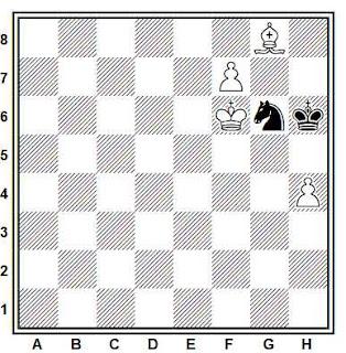 Estudio artístico de ajedrez compuesto por J. Behting (Rigaer Tageblatt, 1892)