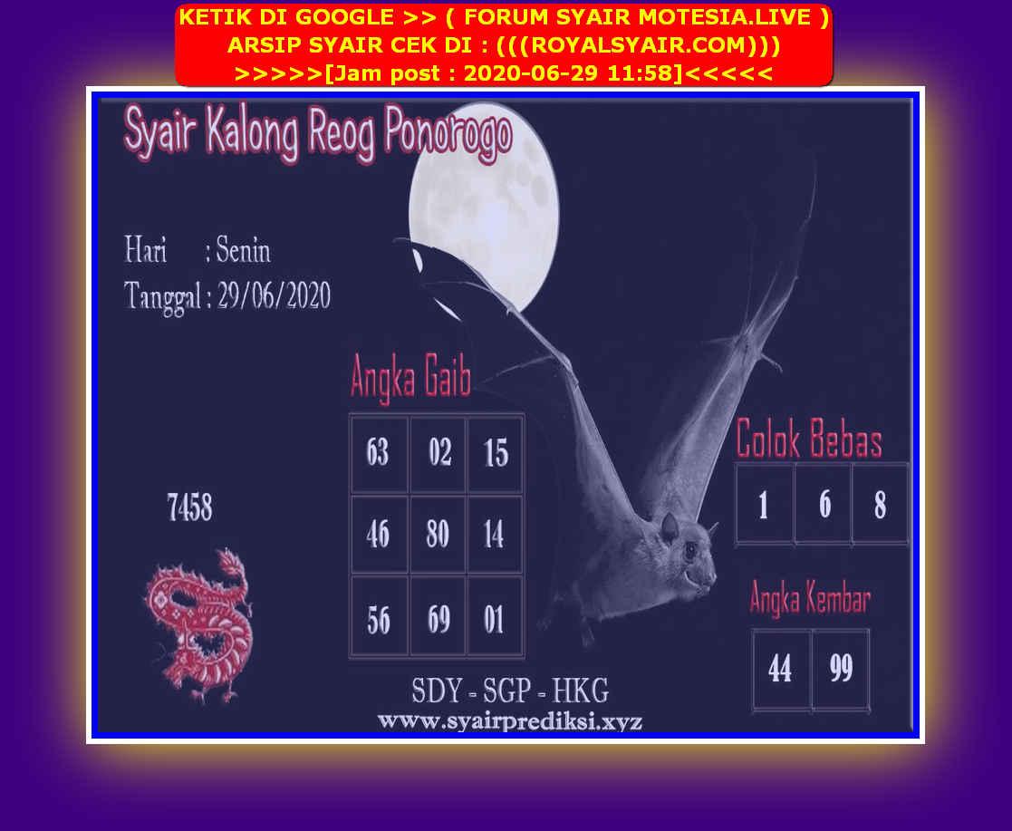 Kode syair Hongkong Senin 29 Juni 2020 265