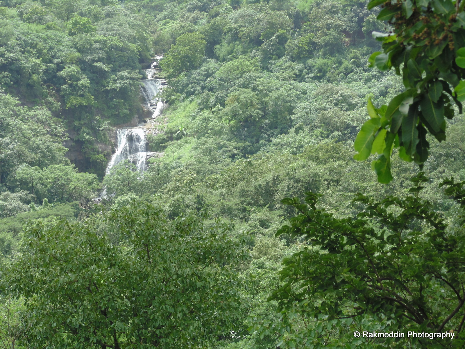 Waterfalls on the way to Aamby valley road lonavala, pune