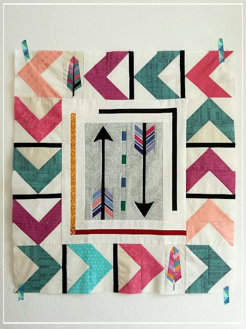 Puppilalla, round robin quilt, modern quilt, quilt borders, FPP, Foundation Paper Piecing