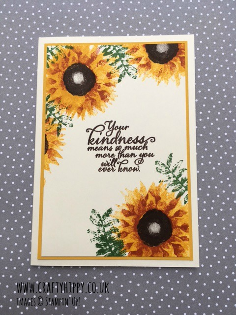Painted Harvest sunflower card by Stampin' Up!