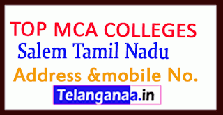 Top MCA Colleges in Salem Tamil Nadu