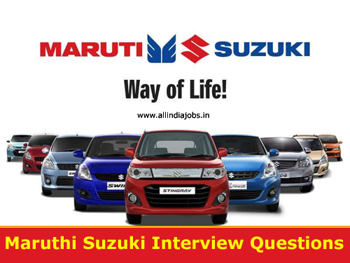 Maruti Suzuki Interview Questions For Freshers And Experienced Technical Hr Freshers Jobs Experienced Jobs Govt Jobs Career Guidance Results