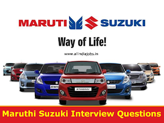 Maruti Suzuki Interview Questions