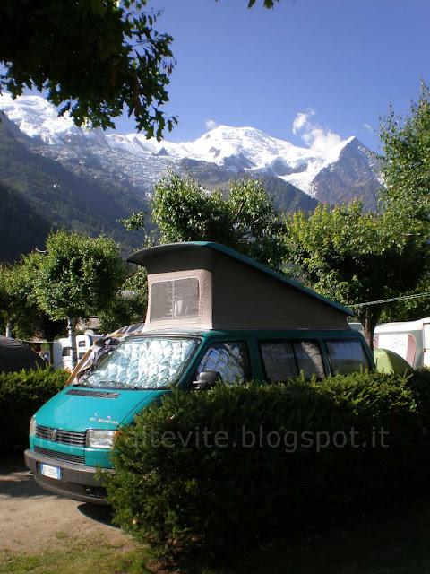 Campeggio a Chamonix