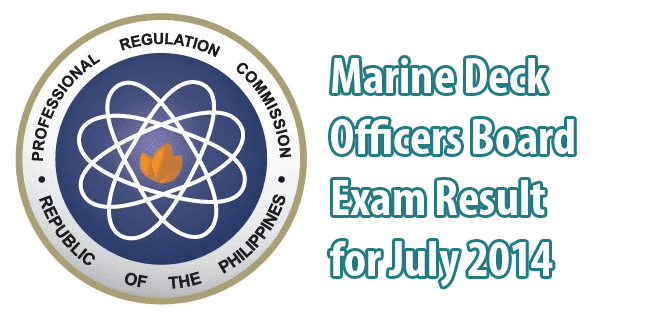 Marine Deck Officers Board Exam Result for July 2014