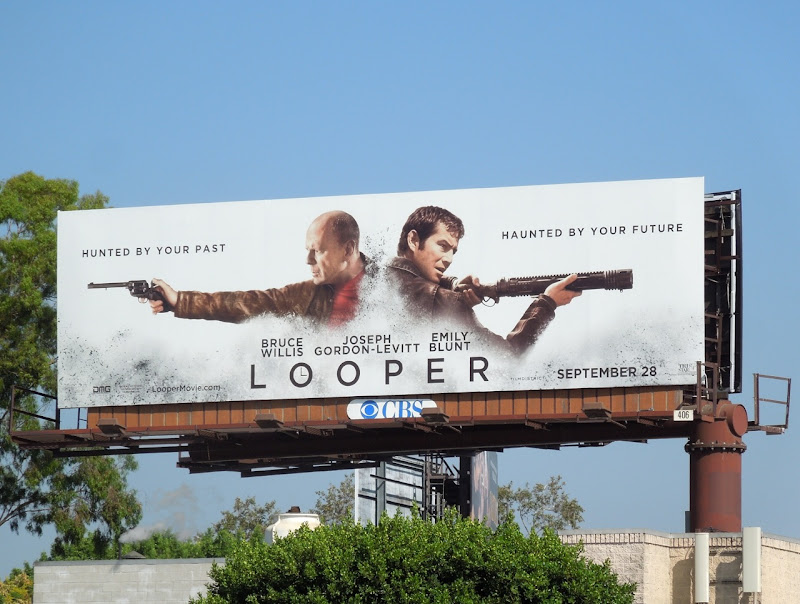 Looper movie billboard