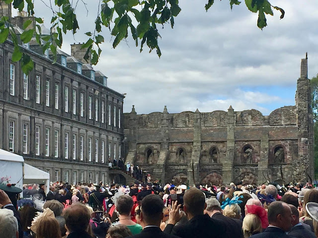 Royal Family arriving at Holyrood Palace, Royal Garden Party