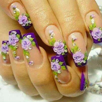 Muyamenocom Uñas Decoradas Con Flores Parte 7