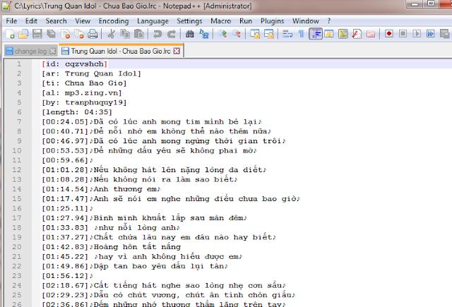 Hướng dẫn lấy file lời bài hát (lyric) bất kỳ - quá đơn giản