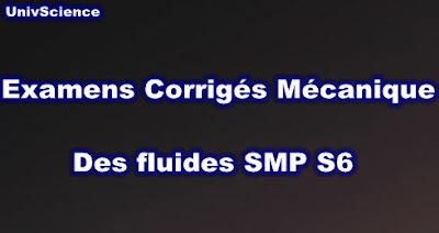 Examens et Exercices Corrigés Mécanique Des Fluides SMP S6