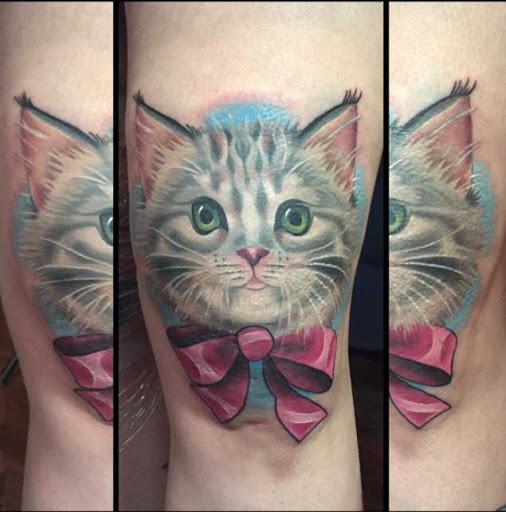 Este gatinho com um arco