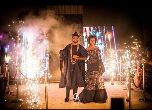 Photos: Banky W And Adesuwa at Their Traditional Wedding