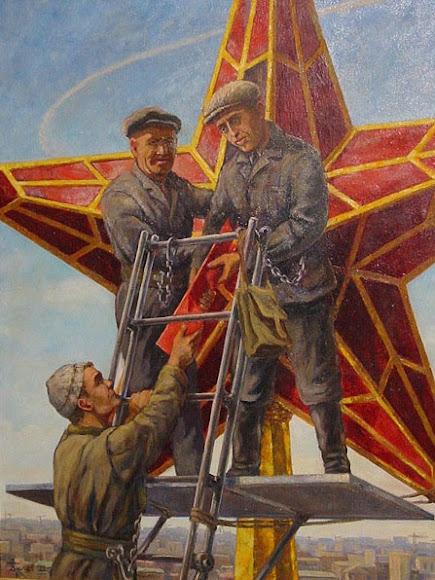 Кремлёвские звёзды в Москве изготовлены из константиновского рубинового стекла