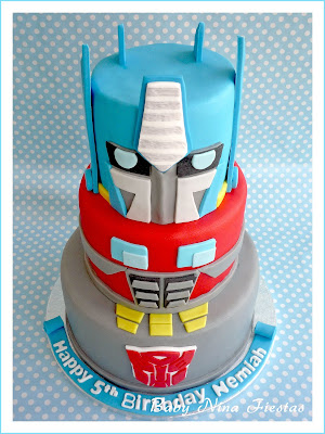 tarta y galletas  transformers