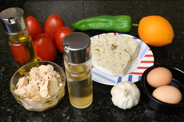 Ingredientes para sopeao andaluz