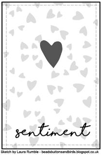 February Card Sketch