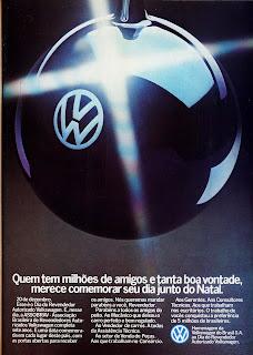 propaganda Volkswagen - 1979. Reclame Volkswagen anos 70