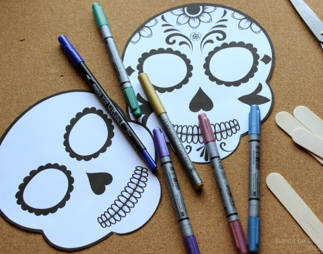 Máscara de Calaveras de azúcar para el día de Muertos -Una Mexicana en USA