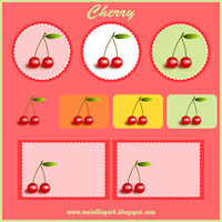 cherry clipart graphics and tags