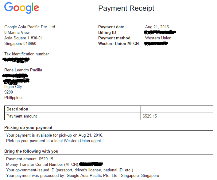 Report Google July Adsense Payment