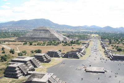 Panorama of Teotihuacan, Mexico