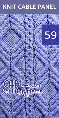 Knitted Cable Panel Pattern 59, its FREE. Advanced knitter and up.