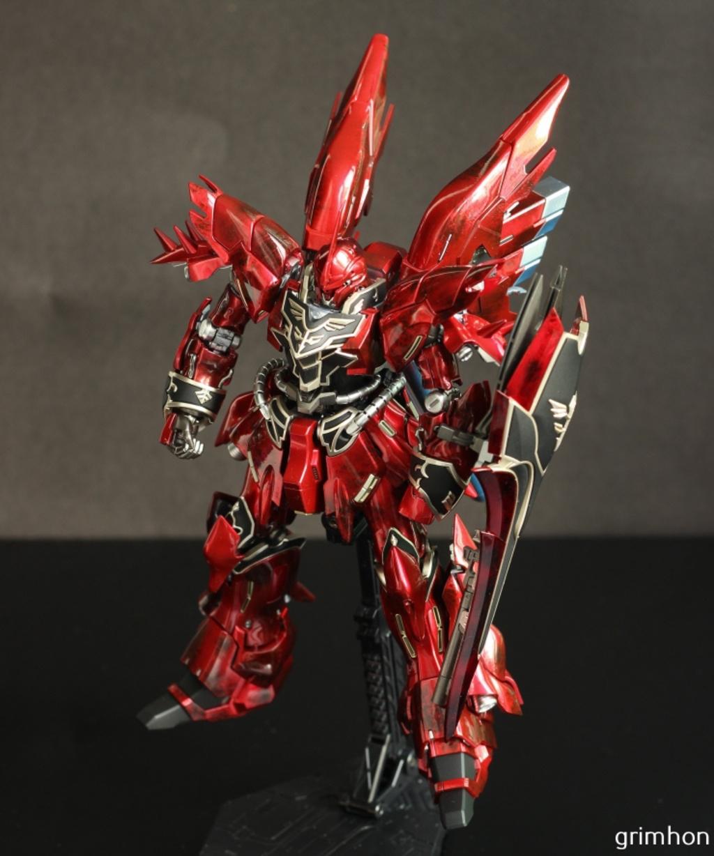 """Painted Build: RG 1/144 MSN-06S Sinanju 'Metallic Marble Finish"""""""