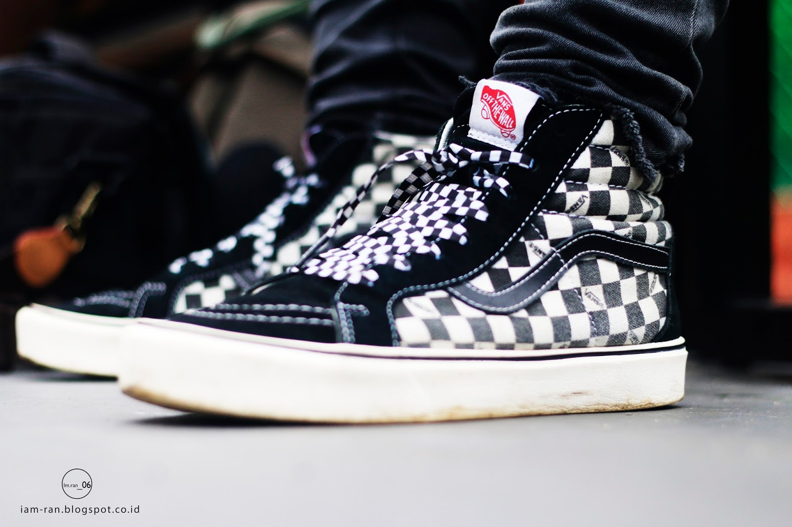 Sneakers   Vans vans sk8 hi black checkerboard ( lace   VHI x MIR) Photo by    iam.ran 06 e7061086faeb