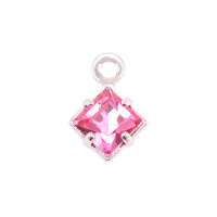 Swarovski Xilion Square Fancy Crystal (Tourmaline - OCTOBER)