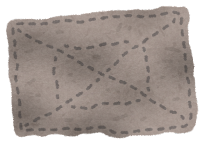 ボロ雑巾のイラスト
