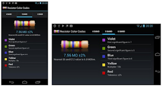 Resistor color codes calculadora Android.