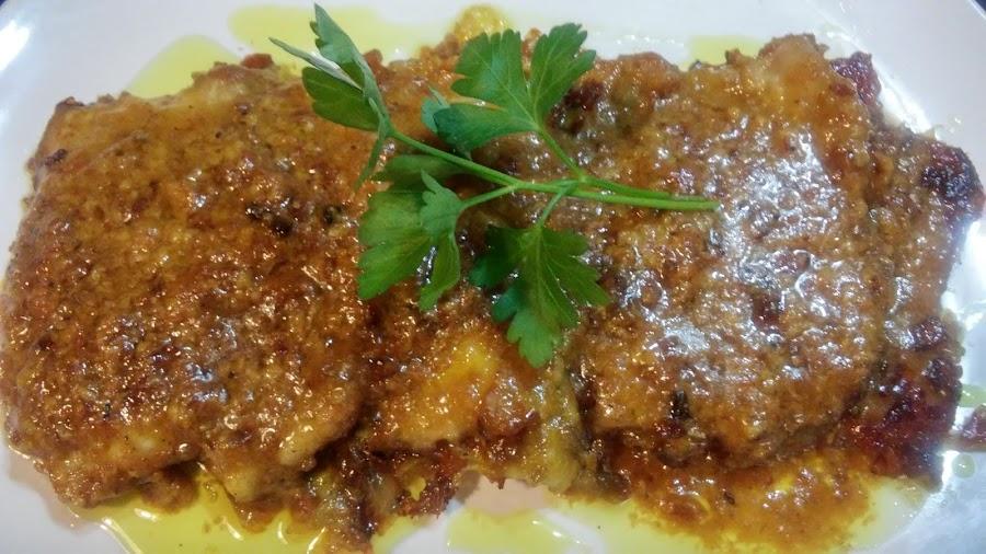 Lomo en salsa de curry